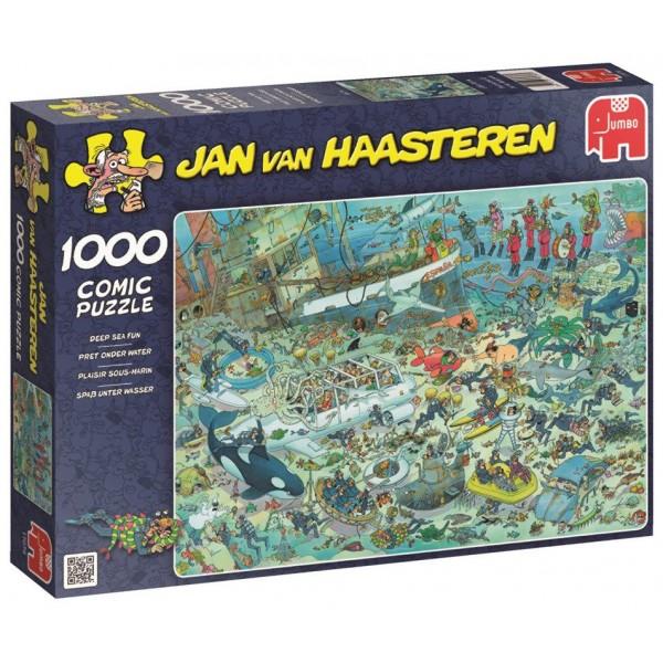 Podwodny świat, Jan Van Haasteren - Sklep Art Puzzle