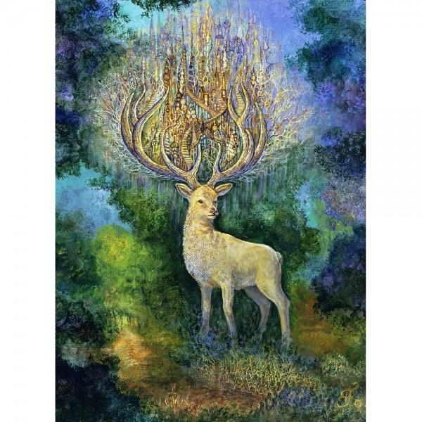 Biały jeleń (2000el.) - Sklep Art Puzzle