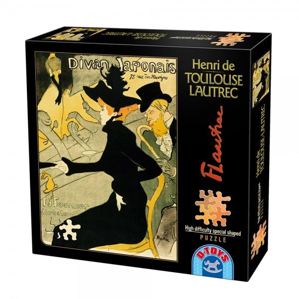 "Plakat- Otwarcie klubu"" Divine Japonese"", Lautrec - Sklep Art Puzzle"