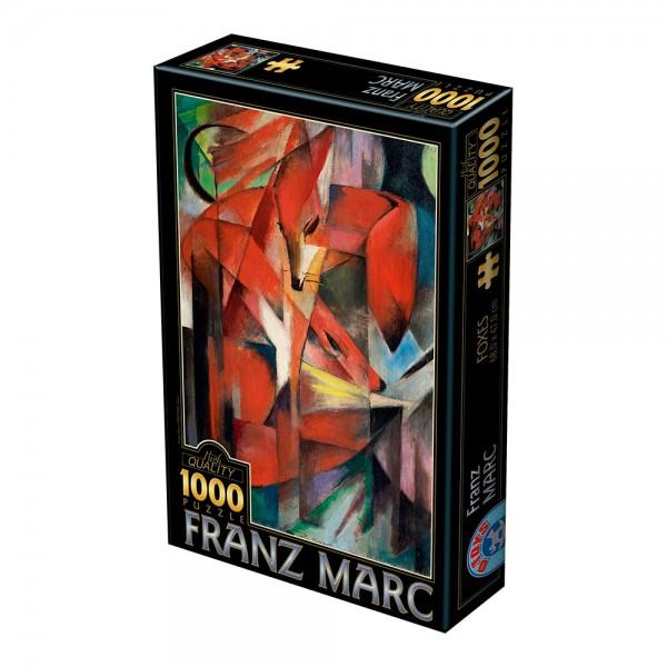 Czerwone lisy, Marc - Sklep Art Puzzle