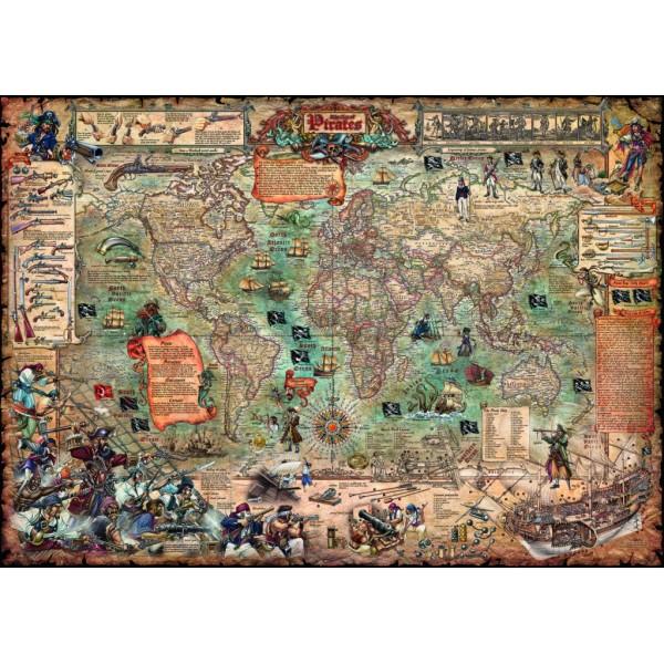 Świat piratów ( Puzzle+plakat) , Rajko Zigic - Sklep Art Puzzle