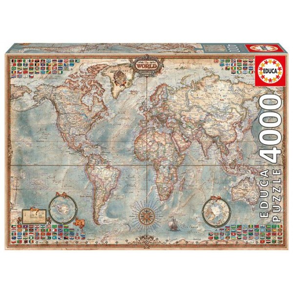Historycza mapa Świata - Sklep Art Puzzle