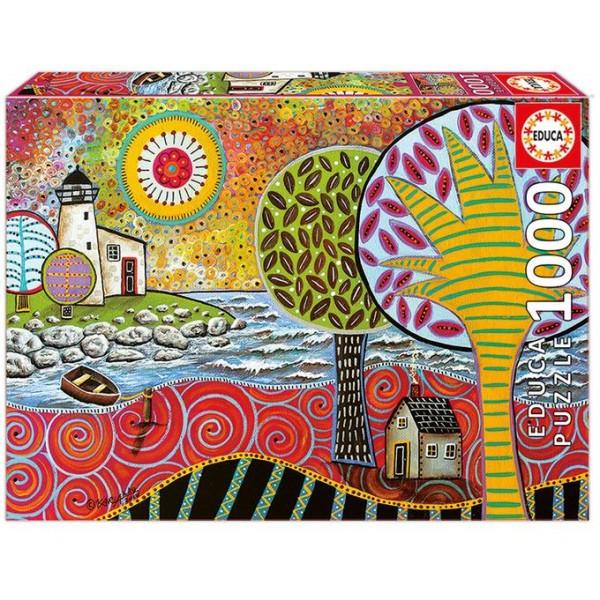 Latarnia morska , Karla Gerard (Puzzle+klej) - Sklep Art Puzzle