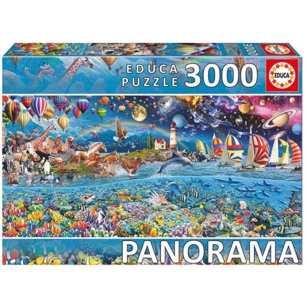 Życie-panorama - Sklep Art Puzzle