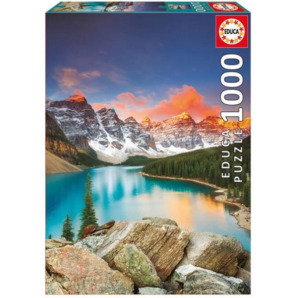 Kanada,Park Narodowy Banff, Jezioro Moraine (Puzzle+klej) - Sklep Art Puzzle