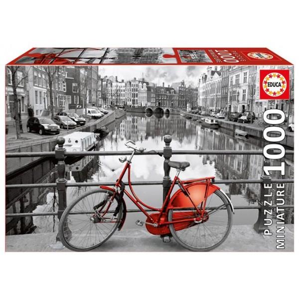 Amsterdam, Rower nad kanałem (Nanopuzzle) - Sklep Art Puzzle