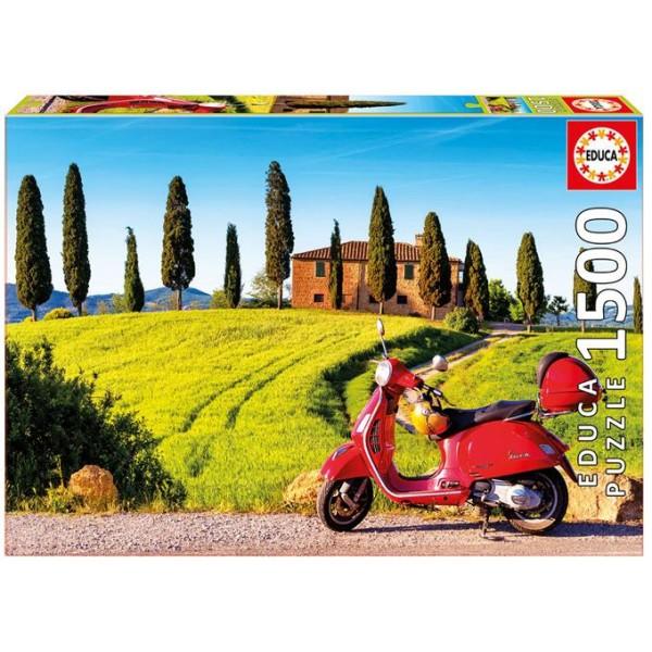 Włochy, Skuter w Toskanii (Puzzle+sklep) - Sklep Art Puzzle