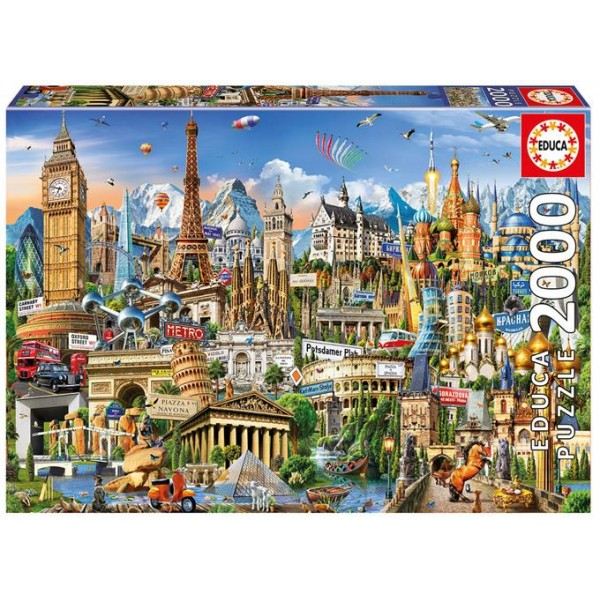 Zabytki Europy (Puzzle+klej) - Sklep Art Puzzle