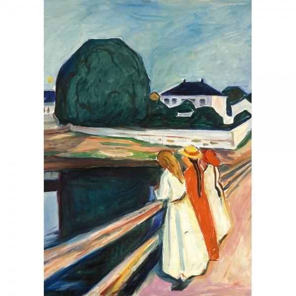 Dziewczyny na moście , Munch - Sklep Art Puzzle