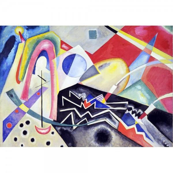 Białe kreski, Kandinsky - Sklep Art Puzzle