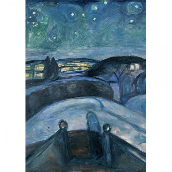 Gwiaździsta noc, Munch - Sklep Art Puzzle