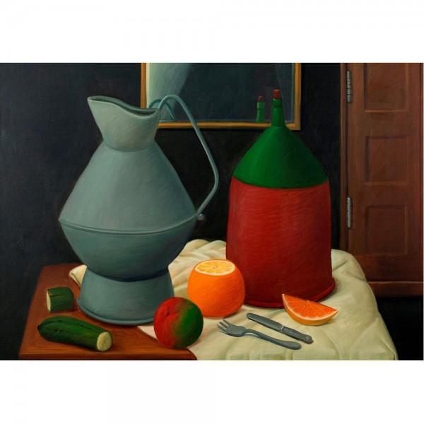 Martwa natura z lustrem, Botero - Sklep Art Puzzle