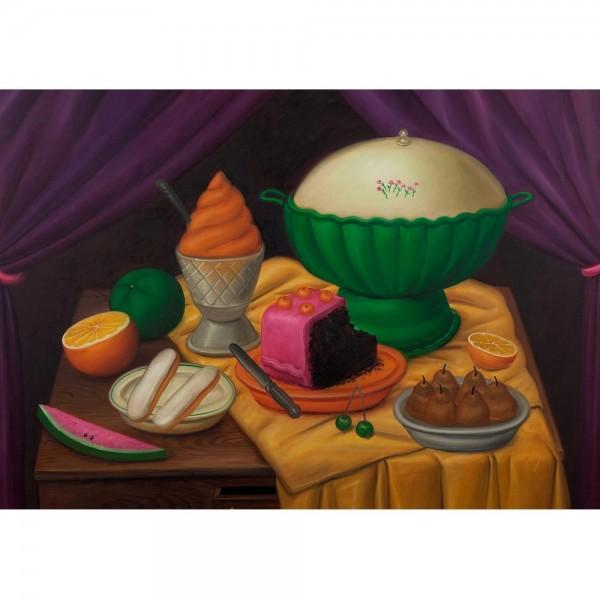 Martwa natura z lodami, Botero - Sklep Art Puzzle