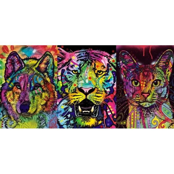Zestaw: Abisyński kot, Dusza wilka, Tygrys - Sklep Art Puzzle