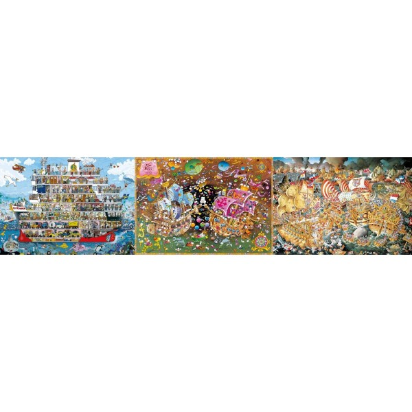 Zestaw HEYE ( 2 x 2000el. oraz 1500el.) - Sklep Art Puzzle