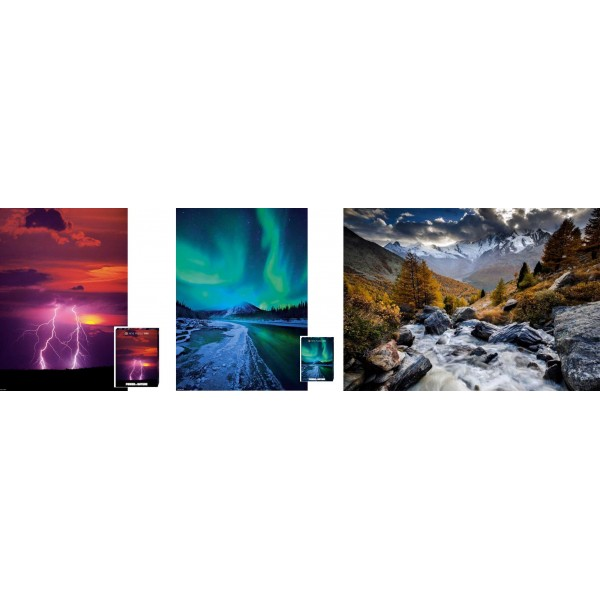 Zestaw Heye ( 3 x 1000el.)-Fotografia artystyczna - Sklep Art Puzzle