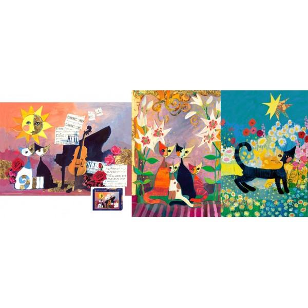 Zestaw, Koty Rosiny ( 2 x 1000el. oraz 500el.) - Sklep Art Puzzle