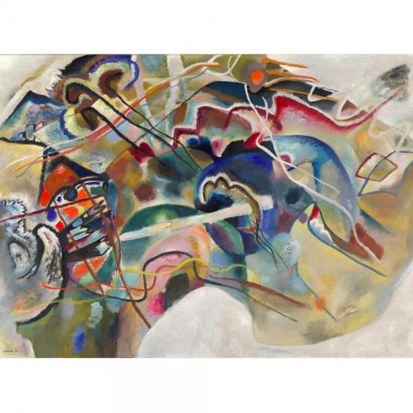 Malowanie z białym obramowaniem, Kandinsky (2000el.) - Sklep Art Puzzle