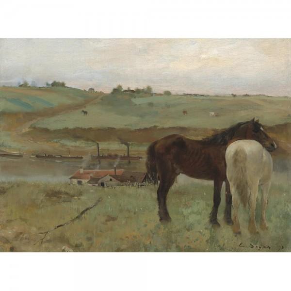 Konie na łące , Degas (2000el.) - Sklep Art Puzzle