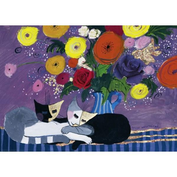 Śpiące koty ( metalizowane), Wachtmeister Rosina - Sklep Art Puzzle