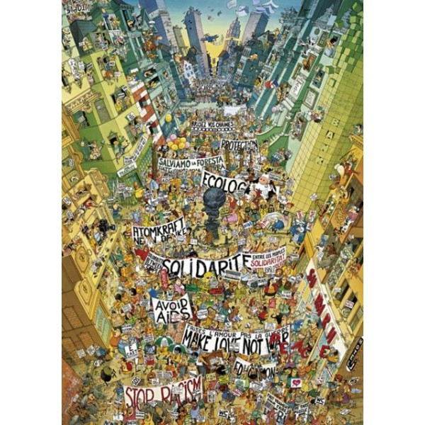 Zwariowany protest - Sklep Art Puzzle
