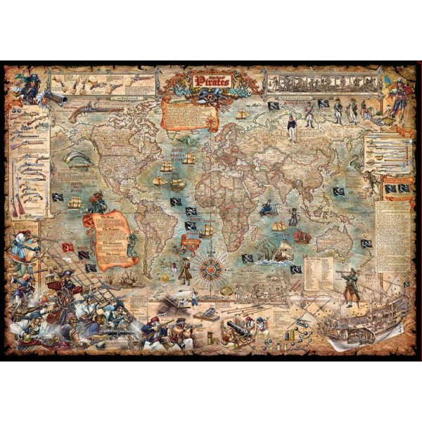 Świat piratów ( Puzzle+plakat ) - Sklep Art Puzzle