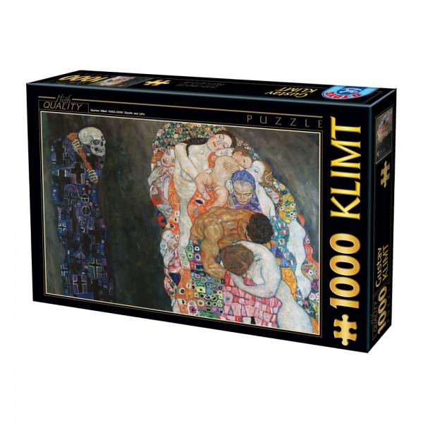 Życie i śmierć, Klimt - Sklep Art Puzzle