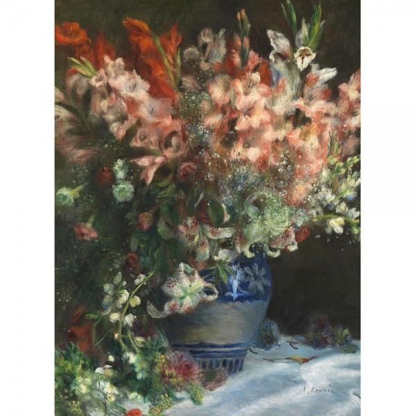 Gladiole w wazonie, Renoir (2000el.) - Sklep Art Puzzle