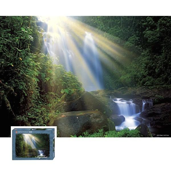 Magiczny las - Wodospad o brzasku - Sklep Art Puzzle
