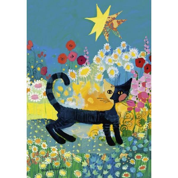 Kotek i kwiatki - Sklep Art Puzzle