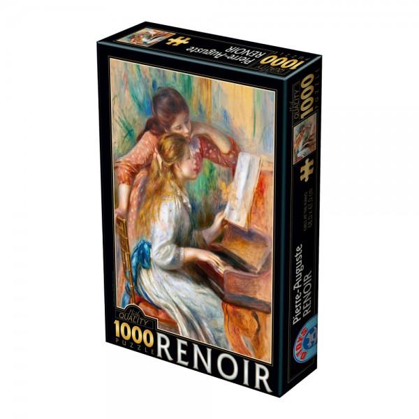 Dziewczynki przy fortepianie, Renoir - Sklep Art Puzzle