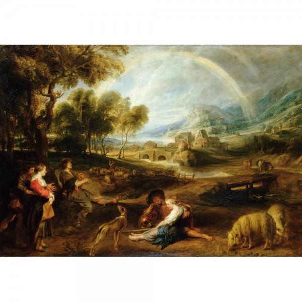 Krajobraz z tęczą, Rubens - Sklep Art Puzzle