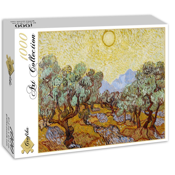 Drzewa oliwne, Vincent van Gogh (1889) - Sklep Art Puzzle