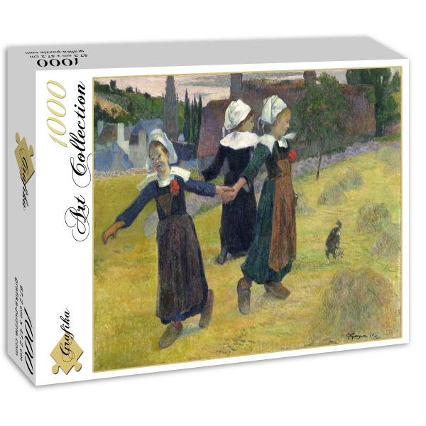 Tańczące Bretońskie dziewczyny, Pont-Aven, Paul Gauguin (1888) - Sklep Art Puzzle
