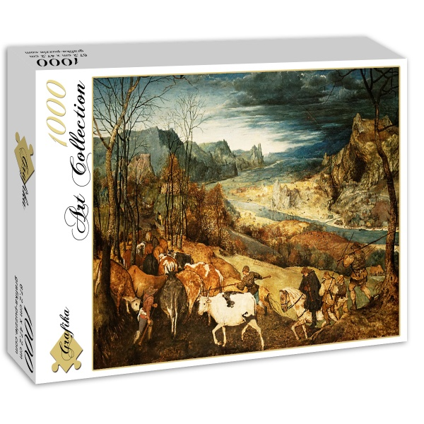 Powrót stada, Brueghel (1565) - Sklep Art Puzzle