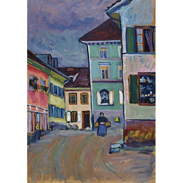 Murnau, Szczyt Johannisstrasse, Wassily Kandinsky (1908) - Sklep Art Puzzle