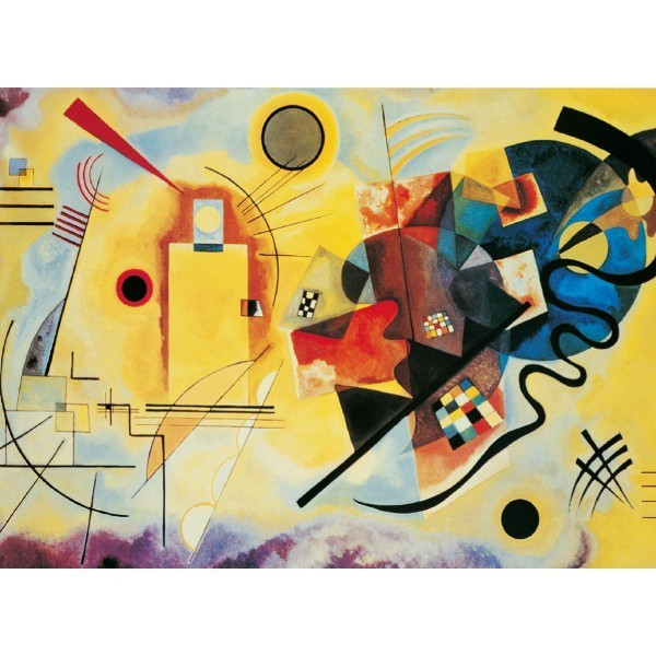 Żółty, czerwony, niebieski- Kandinsky - Sklep Art Puzzle