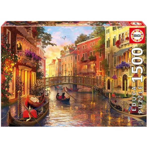Kanał w Wenecji (Puzzle+klej) - Sklep Art Puzzle