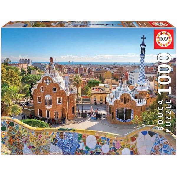 Barcelona, Widok na park Gaudiego (Puzzle+klej) - Sklep Art Puzzle
