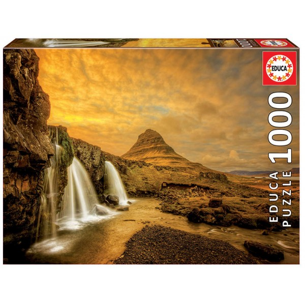 Islandia, Wodospad  Kirkjufellsfoss (Puzzle+klej) - Sklep Art Puzzle