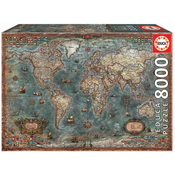 Historyczna mapa świata ( 8000el.) - Sklep Art Puzzle