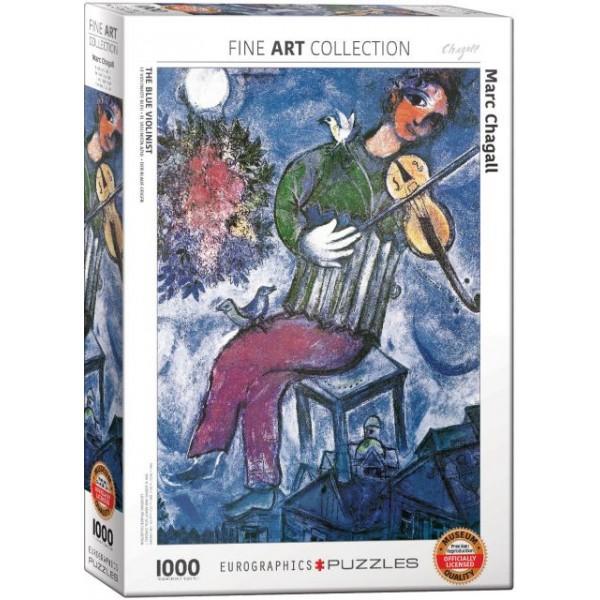 Niebieski skrzypek, Marc Chagall - Sklep Art Puzzle