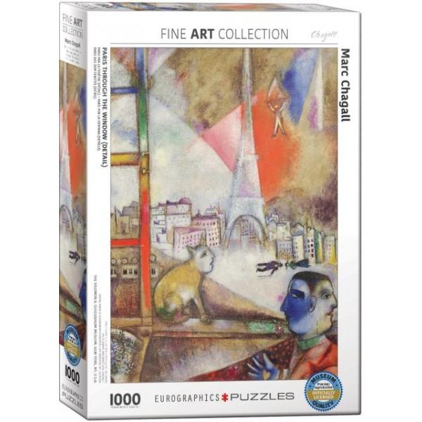 Paryż przez okno, Marc Chagall - Sklep Art Puzzle