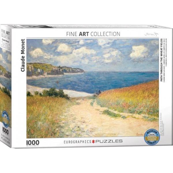 Ścieżka przez pola pszenicy, Claude Monet - Sklep Art Puzzle