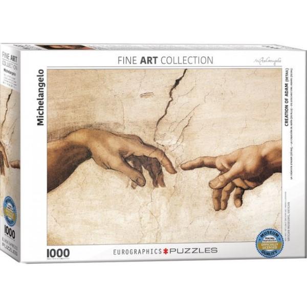 Stworzenie Adama (fragment), Michał Anioł - Sklep Art Puzzle