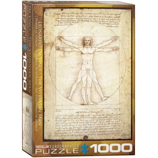 Człowiek witruwiański, Leonardo Da Vinci - Sklep Art Puzzle