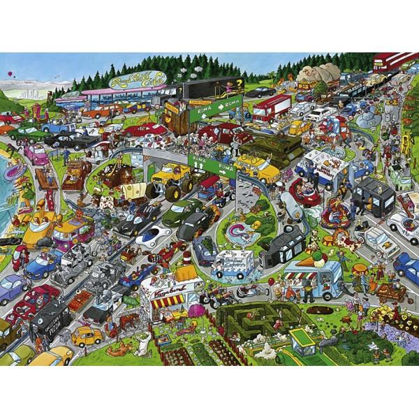 Korek na autostradzie ( Puzzle+plakat ), Schone - Sklep Art Puzzle