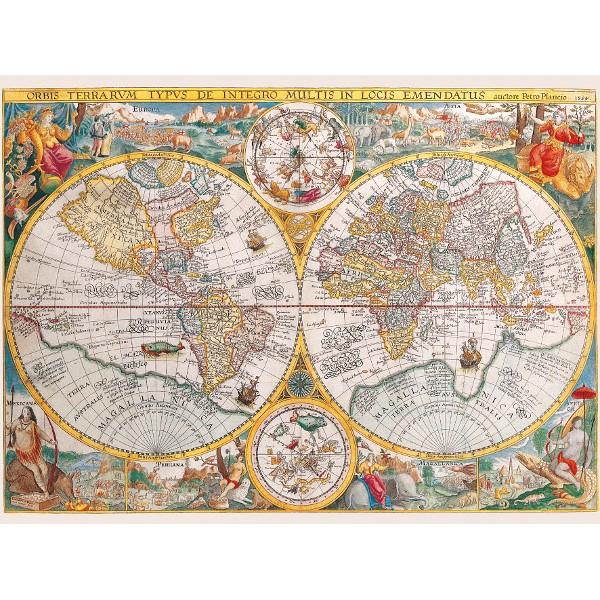 Historyczna  mapa Świat - Sklep Art Puzzle