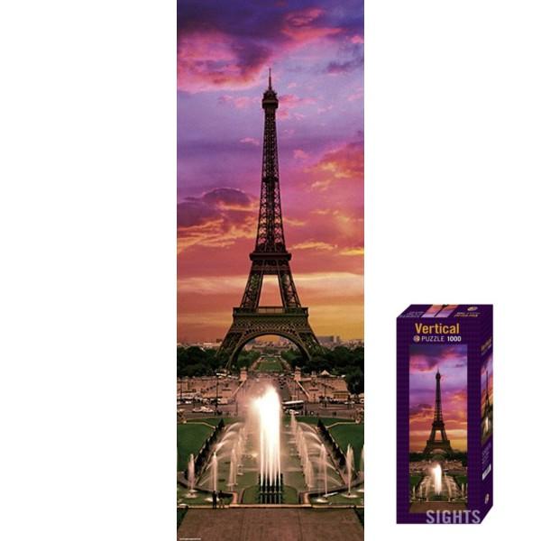 Paryż- Wieża Eiffla o zachodzie słońca - Sklep Art Puzzle