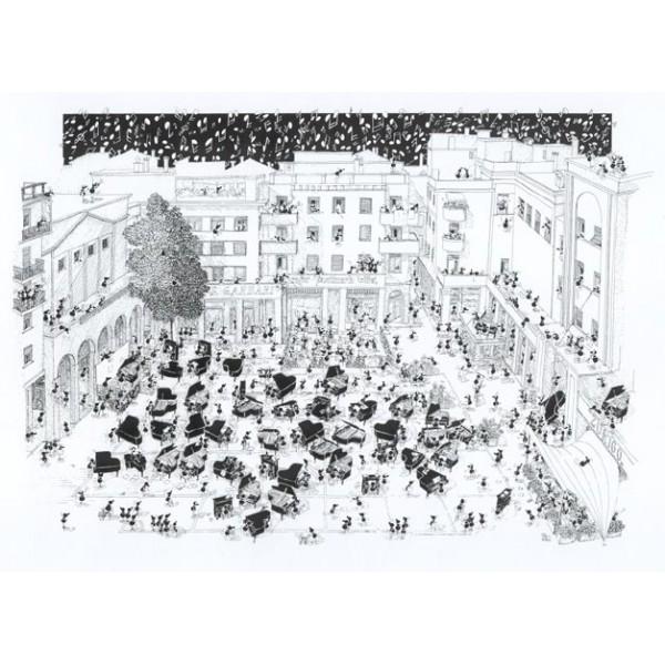 Mrówki kochają muzykę - Pianofiorti - Sklep Art Puzzle